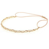 Gold tone twisted rhinestone headband - hair accessories - accessories - women