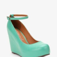 Jeffrey Campbell Leather Platform Wedge