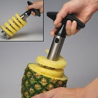 Stainless Steel Pineapple Easy Slicer, Corer: Kitchen &amp; Dining
