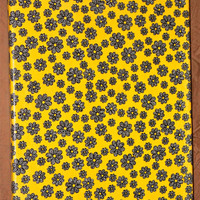 Trendy Black Yellow & Gray Flower Fabric Wall by AquaXpressions