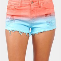 Sun Kissed Shorts - Orange/Blue