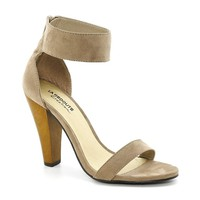 Heeled Sandals with 10 cm Wooden Heel