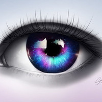 """""""A whole new World in your Eyes"""" Art Print"""