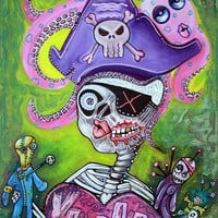 Pirate Voodoo Art Prints by Laura Barbosa - Shop Canvas and Framed Wall Art Prints at Imagekind.com