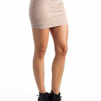fitted pintuck skirt $17.90 in TAUPE - Skirts | GoJane.com
