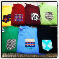 LARGE Custom crew cut sweatshirts with pocket