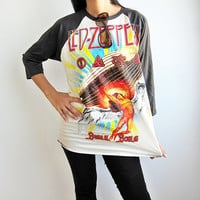 Led Zeppelin Swan Song Hard Rock Heavy Metal T by TheRockerShop