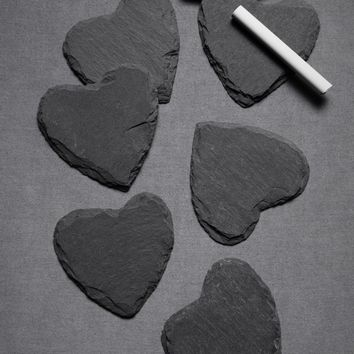 Slate Heart Placeholders (8) in  SHOP D?cor Decorating at BHLDN