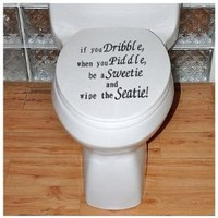 SODIAL- Toilet Seat Decal Wall Art Wallpaper Hanging Sticker