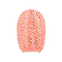 Slouchy Open-Knit Beanie: Charlotte Russe