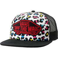 Vans Black &amp; Colorful Leopard Print Trucker Hat
