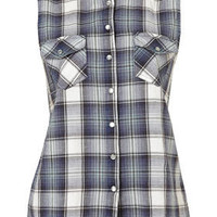 Sleeveless Check Shirt - New In This Week - New In - Topshop USA