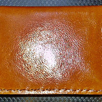 brown leather man&#x27;s wallet  handmade long