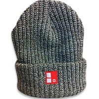 E THE REAL Boundary Stamp MarlCuff Beanie in Army