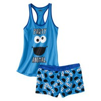 Sesame Street Junior&#x27;s Tank &amp; Short Sleep Set - Cookie Monster