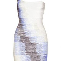Alessandra Ambrosio Single Shoulder Beads Dress H221