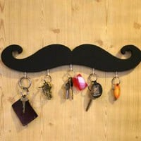 black mustache key hook
