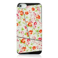 Metal Retro Flower Leather Skin Phone Case For iPhone5