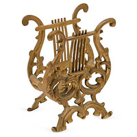 One Kings Lane - Seahouse Design - Gilded Harp Music Holder