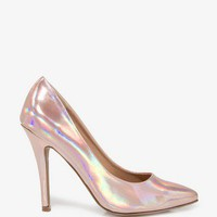 Pointed Hologram Pumps | FOREVER 21 - 2021063215