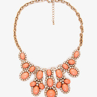 Bejeweled Rhinestoned Bib Necklace