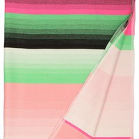 Colour Pink/ Green Plaid Throw  | Calypso St. Barth