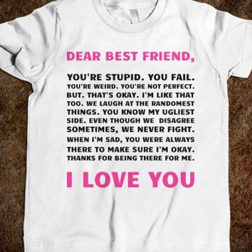 Dear Best Friend (Juniors) - Text First