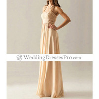 2012 New Halter Floor-length Chiffon Elastic Satin Bridesmaid Dress(TBRMA023) [TBRMA023] - $87.99 : wedding fashion, wedding dress, bridal dresses, wedding shoes