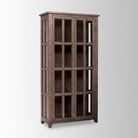 Sundried Pine Display Cabinet