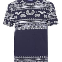 NAVY BANDANA PRINT T-SHIRT - View All  - New In