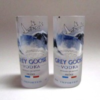 Grey Goose Shot Glass (qty 1) - Repurposed Grey Goose Bottle: Kitchen & Dining