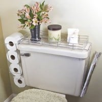 Toilet Caddy- 3 in 1 Organizer: Home & Kitchen