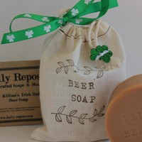 St. Patrick's Day IRISH BEER SOAP In Bag Killian's Red 100% Natural Vegan | Luulla