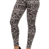 New ! PLUS SIZE Aztech Tribal Printed Popular Women Leggings Pants XL 2XL 3XL