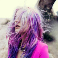 MYSTIC   shades of purple  / pastel/ dip dye / free by LulusGalaxy