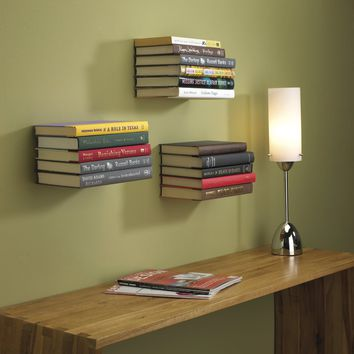 Umbra Conceal Floating Book Shelf, Large, White