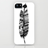 Feather time  iPhone Case by Animaux Circus | Society6