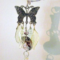 Purple Butterfly Suncatcher by BohemianGrove on Zibbet