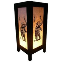 Amazon.com: Handmade Table Lamp Asian Oriental Love Elephant Decor Cheap Price Made From Thailand: Everything Else