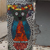 Mosaic Owl Window