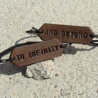 His & Hers  To Infinity and beyond  set of two  by leathermadenice