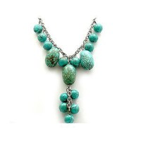 18 Inch Large Turquoise Necklace