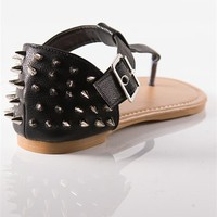 Studded Thong Sandals - Black from Sandals at Lucky 21 Lucky 21