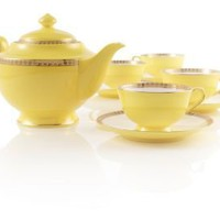 Noble Poppy Yellow Bone China Tea Set at Teavana        | Teavana