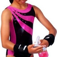 Pink and Black Sunfire Leotard (Adult Extra Small)
