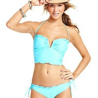 California Waves Swimsuit, Halter Tankini Top &amp; Side-Tie Brief Bottom - Womens Junior Swimwear - Macy&#x27;s