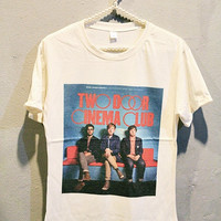 Two Door Cinema Club T-Shirt Tee Shirt Indie Rock Women T Shirts Off White TShirt Size S