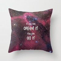 Dream It Throw Pillow by Alice Gosling | Society6