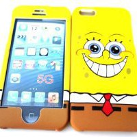 Amazon.com: iphone 5 Designer SpongeBob Squarepants Cartoon Case Full Cover Front and Back: Cell Phones & Accessories