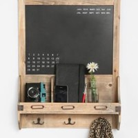 Vintage wood Calender Chalkboard 